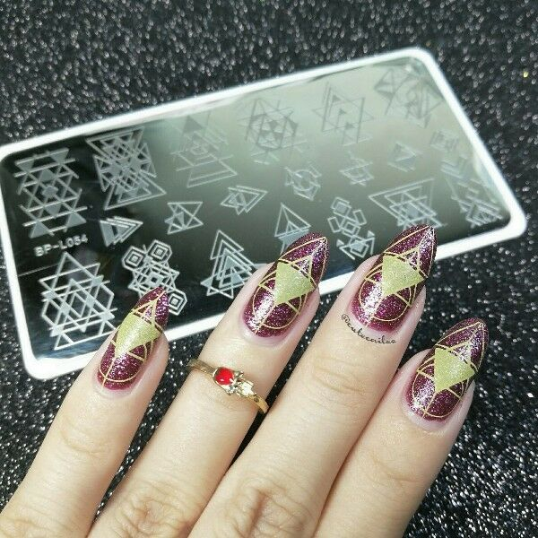 BORN PRETTY Nail Art Stamp Plate  Image Template Geometry Style BP-L054