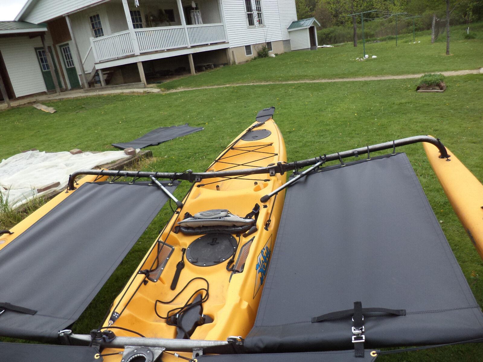 Kayak côté Trampoline-noir Pour 2014 & plus tôt Adventure Island Kayaks