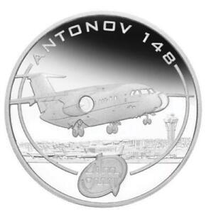 Cook-Islands-2008-1-Antonov-An-148-1-Oz-Silver-Proof-Coin-NEW