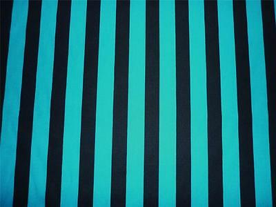 FQ TURQUOISE BLUE AND BLACK STRIPE FABRIC