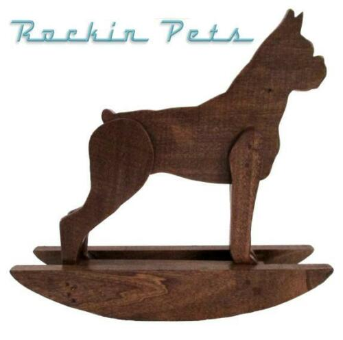 Rocking Boxer Dog Rocker Wood Rocking Horse Style Handmade Tabletop Decor