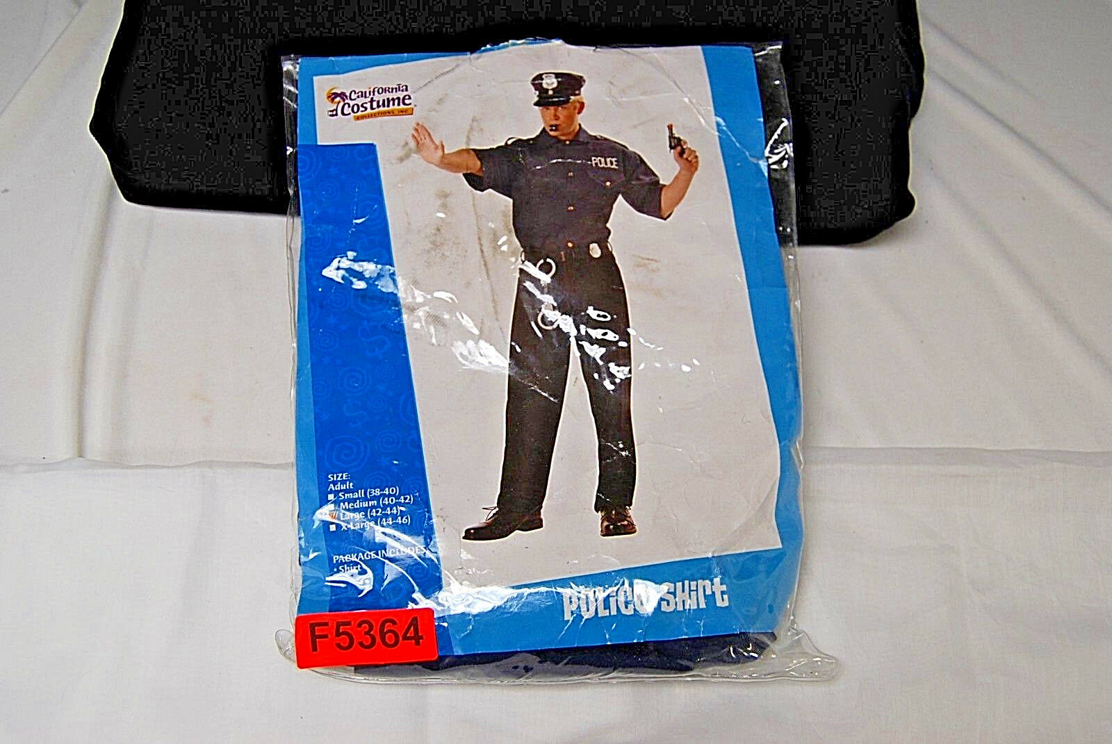California Costume Collections Police Shirt Size Large (F5364) & Costumes  Costumes Reenactment Theater  Clothing Shoes ...