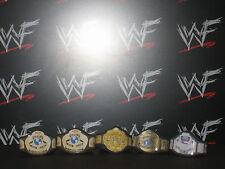 5 X Wcw Wwf Wwe título personalizado Correas para Galoob Hasbro Mattel lucha libre figura Ecw