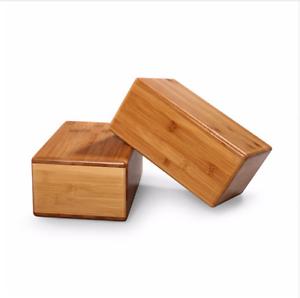 Bamboo Yoga Block Prop Fitness Wood Gear Pilates Exercise Natural