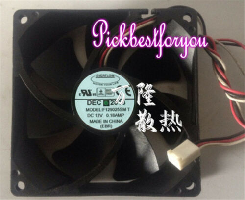 EVERFLOW F129025SMT équipement Ventilateur de refroidissement DC12V 0.18 A 9 CM 3 Wire #MD86 QL