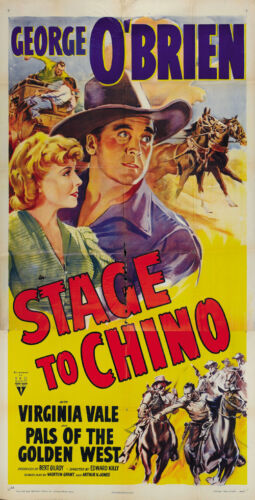 George O/'Brien Cult Western movie poster print 3 1940 Stage to Chino