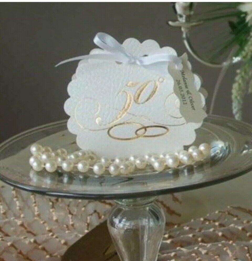 50 Gastgeschenke Tischkarte Hochzeitstag Giveaway Geschenk Goldene Hochzeit Box