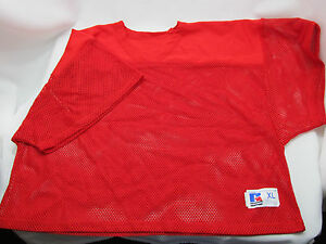 Russell Athletic Mesh Scrimmage Practice Jerseys Lot of 2 Adult X-Large Red NWOT