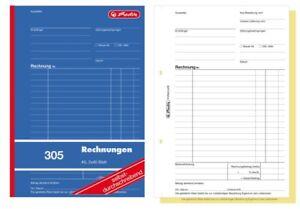 10x Rechnungsbuch A5  2x50 Blatt je Buch mit Blaupapier 2 x 50 Blatt Rechnungs