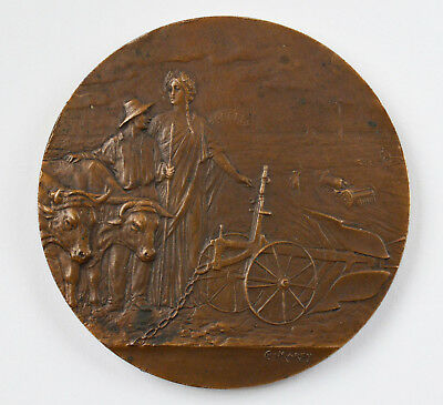 Aufrichtig Medaille Bronze Frankreich Bar-sur-aube Société Nationale L'agriculture Ch Marey