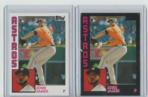 JOSH-JAMES-ASTROS-2019-TOPPS-35th-ANNIVERSARY-1984-RC-84R-JJ-Black-amp-base-299