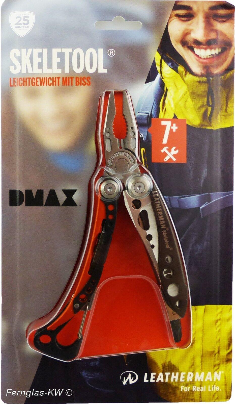 Lederman Skeletool DMAX Edition Multitool 7+ Taschenwerkzeug 142 gramm