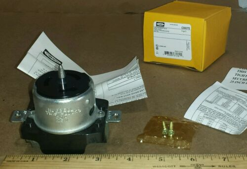 Hubbell CS6370 Twist Lock Grounding Receptacle Connector 2P 3W 50A 125V Wire 3/&4