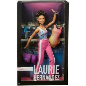Barbie-Signature-Laurie-Hernandez-Olympique-gagnant-gymnaste-edition-limitee-poupee