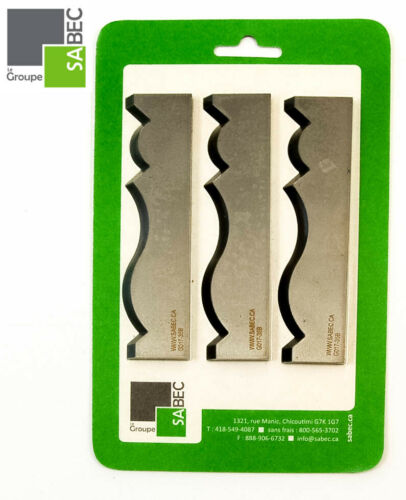 "NEW MOULDING KNIVES KIT OF 3 CROWN MOULDING 4.00/"" WOODMASTER COMPATIBLE 1051"