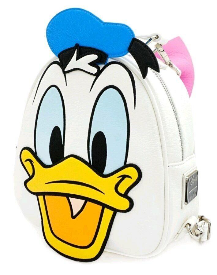 Mickey Mouse - Donald & Daisy Duck Reversible Backpack-LOUWDBK0939-LOUNGEFliegen