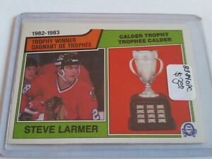 1983-84-O-Pee-Chee-206-Steve-Larmer-Calder-Chicago-Blackhawks