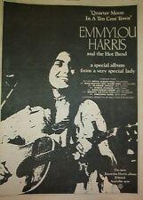 EMMYLOU HARRIS UK TOUR 1978  Poster size Press ADVERT 16x12 inches