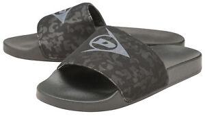 Dunlop-Mens-Slip-On-Flip-Flop-Sandals-Open-Toe-Black-Camo-Beach-Shoes-Sizes-7-12