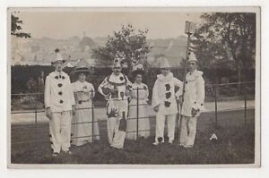 YMCA-Collecton-Cardiff-Pierrot-Fancy-Dress-RP-Postcard-B596