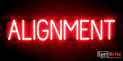 SpellBrite Ultra-Bright ALIGNMENT Sign Neon look LED performance