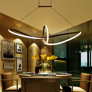 Image Is Loading Modern Led Pendant Aluminium Suspended Dining Room Living
