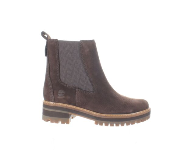 Timberland Womens Courmayeur Valley Brown Chelsea Boots Size 7.5 (1541463)