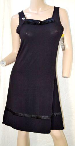 M L XL Vanity Fair Mid Black Modal Sleepwear Short Gown 30120  # S