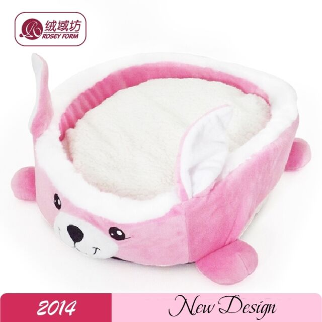 New wholesale pet dog cat bed houses hot sales lovely pink rabbit style dog smal