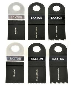 2x 63mm Saxton Carbide blades for Worx sonicrafter Hex Drive Multitool