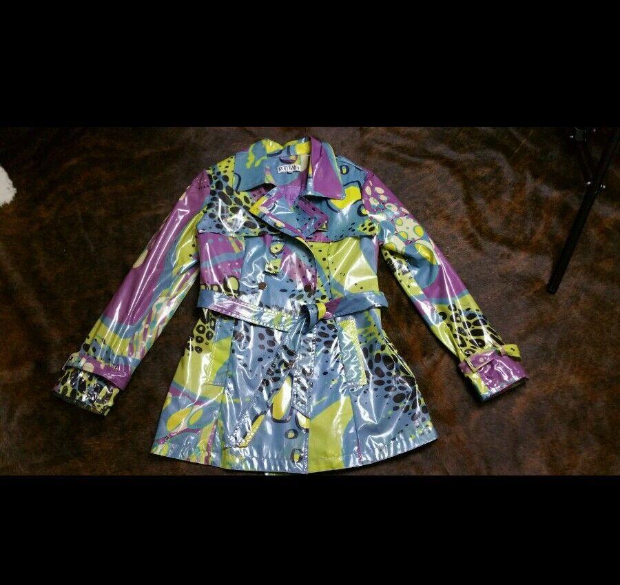 SVETLANA Boutique raincoat colorful sz S nwot