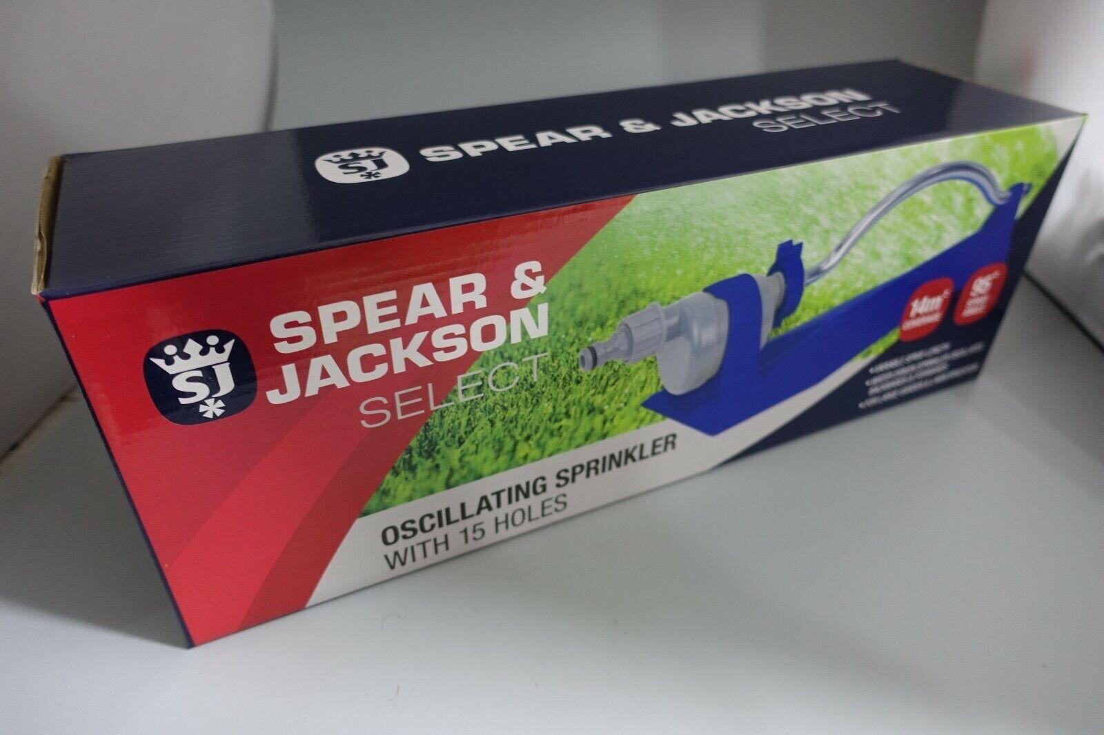Spear & Jackson Oscillating Sprinkler 14 Sq Metre Coverage NEW UK Stock FREE P&P