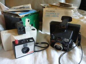 lot-de-2-appareil-photo-POLAROID-colorpack-82-et-SWINGER-20-avec-notices-boites