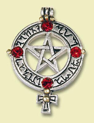Pentagramm Der Venus Liebeszauber & Schutz M. Kette Blutrote Kristalle Wicca Neu üBerlegene Materialien