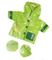 8 Green Frog Lovely Raincoat Coat With Boots Fits 8-10 (25cm) Teddy Bear