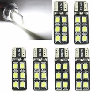 6Pcs-T10-12-SMD-LED-Canbus-Error-Free-Silica-Light-Bulb-6000K-W5W-194-168-2835