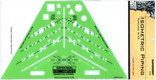 Chartpak Rapidesign R-43 Isometric Piping Template