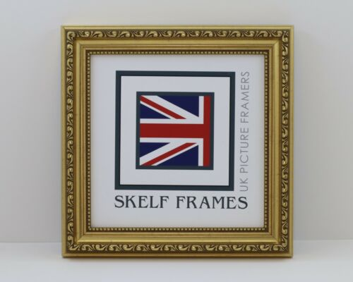 SKELF FRAMES GOLD ORNATE SQUARE PICTURE PHOTO POSTER FRAME