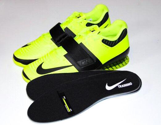 Nike romaleos 3 uomini il numero 15 di sollevamento pesi scarpe nuove 852933-700 volt nero