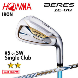 2-Star-HONMA-GOLF-JAPAN-BERES-IE-06-SINGLE-IRON-5-or-SW-ARMRQ-X43-2018