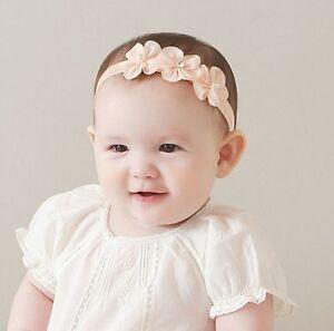 newborn toddler kids baby girl flower headband hair band