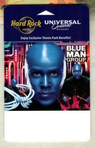 HARD ROCK HOTEL UNIVERSAL ORLANDO RESORT Blue Man Group 2012 Hotel Key Card