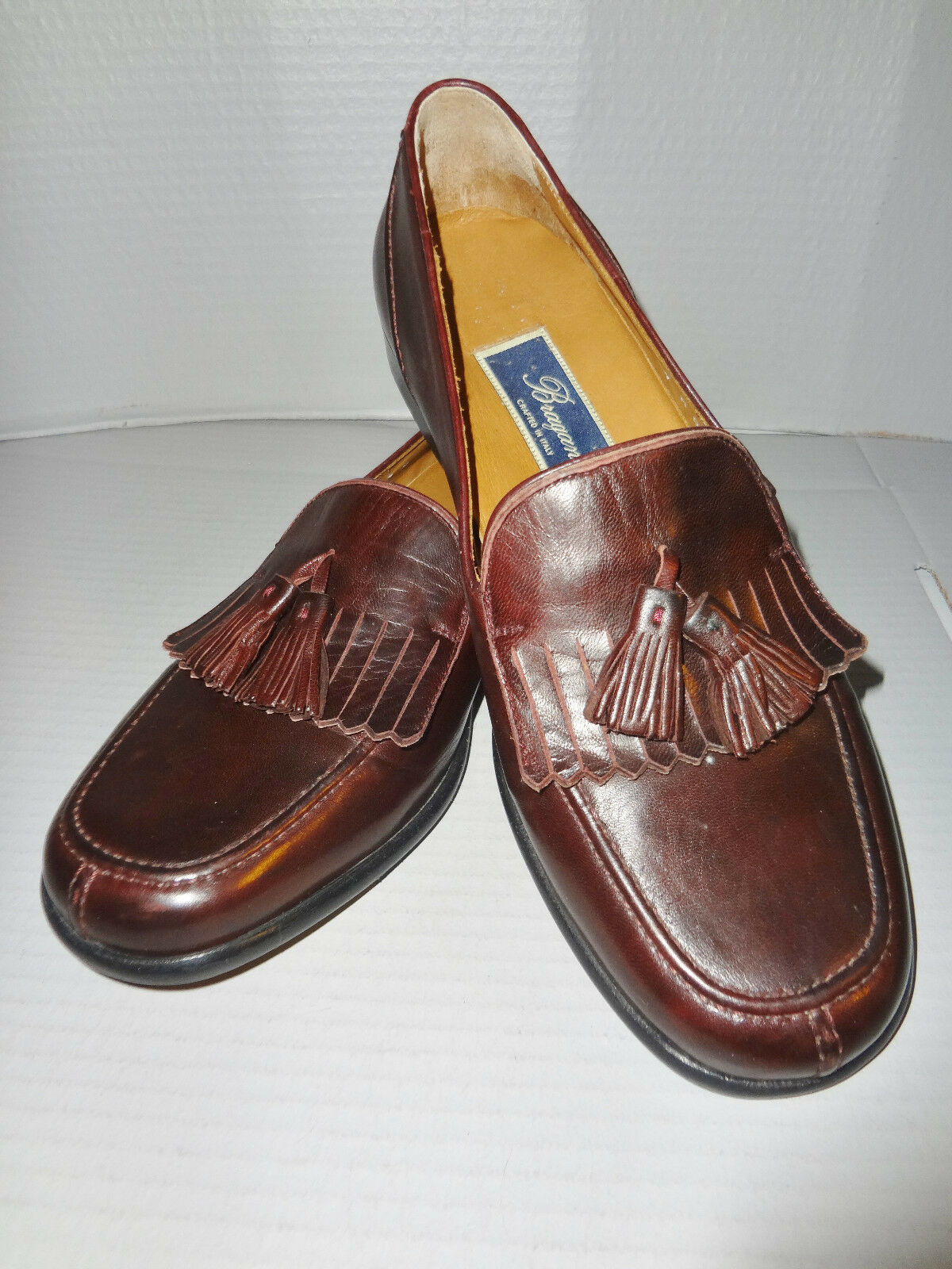 New - Bragano - Brown Loafer - Tassel - Size 7 M - Made in