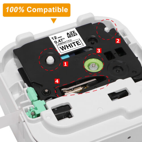 Compatible TZe-315 314 Standard Laminated 6mm P-Touch Label Tape 6mm Labelmaker