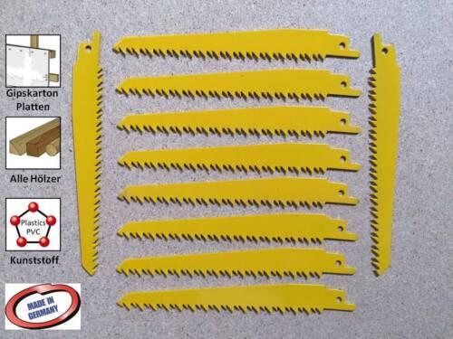 Säbelsägeblatt Sägeblatt 10 Stück für Holz Gipskarton Kunststoff