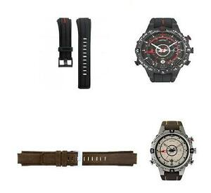 TIMEX E-COMPASS LEATHER OR RESIN STRAP / IQ STRAP 314 on caseback
