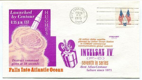 1975 Intelsat 4 Atlas Centaur Failure Into Atlantic Cape Canaveral Usa Nasa
