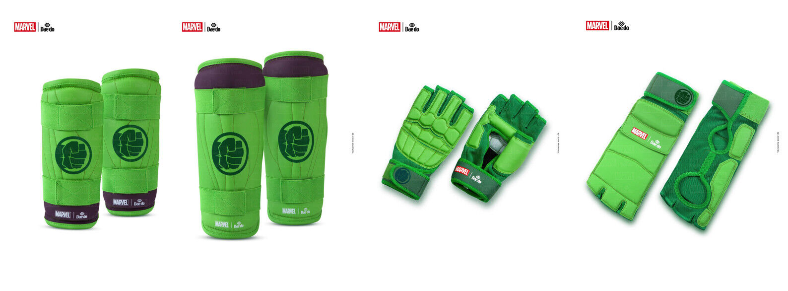 Marvel x Dae Do HULK Martial Arts Taekwondo Gear TRAINING EQUIPMENT set Size M