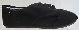 Maverick A2074 Mens Black Canvas Shoes Uk7 X 11 (go)