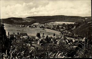 Altenfeld-Thueringer-Wald-DDR-s-w-AK-1955-Panoramablick-vom-Koenigswald-Panorama
